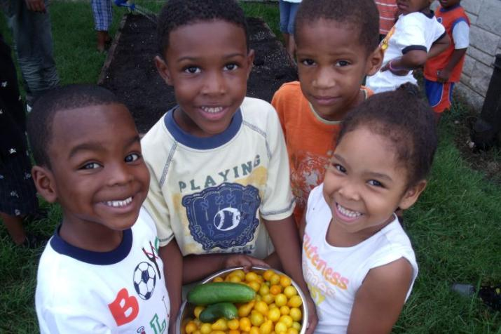 North Carolina school children take part in DGHI community gardening project