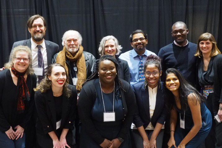 Decolonizing Global Health speakers and organizers gathered for a portrait at the close of the January 2020 event. Photo by Ahmad Tejan-Sie.