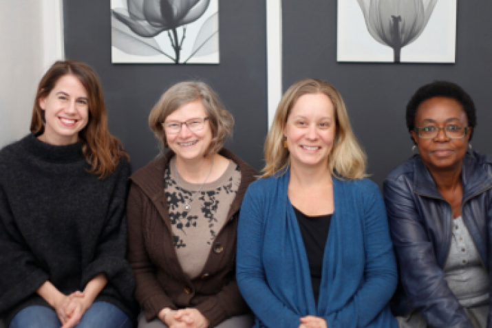 DGHI's Lauren Franz, assistant professor of psychiatry and global health, with colleagues in South Africa.