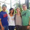 Paul (2nd from right), as an undergrad, and her DGHI mentor, Jorge Benavides-Rawson (far right) with fellow colleagues in San Vito, Costa Rica.