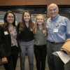 Students Kavita Krell, Maria Naclerio, and Kathryn Silberstein with Dennis Clements, professor of pediatrics, community and family medicine, and DGHI global health senior advisor.